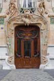 An Art Nouveau Doorway in Central Paris  France  Europe