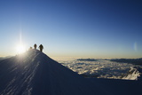 Sunrise from Summit of Mont Blanc  4810M  Haute-Savoie  French Alps  France  Europe