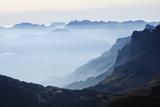 Mountain Silhouette  Chamonix  Haute-Savoie  French Alps  France  Europe