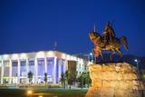 Equestrian Statue of Skanderbeg  Tirana  Albania  Europe