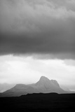 Silhouette of Stac Pollaidh Against Storm Sky  Viewed from Tanera More  Coigach and Assynt  UK
