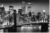 New York - Manhattan Black Tableau sur toile