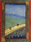 Bridge in the Rain (After Hiroshige) Giclée par Vincent Van Gogh