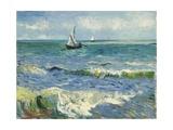 Seascape Near Les Saintes-Maries-De-La-Mer Reproduction d'art par Vincent Van Gogh