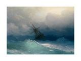 Ship on Stormy Seas Giclée par Ivan Konstantinovich Aivazovsky