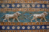Detail of Lions on Ishtar Gate at Pergamon Museum