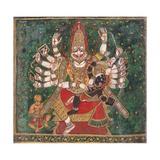 Narasimha Killing Hiranyakashipu  as Prahlada Watches