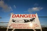 Warning Sign Near St Maarten Airport  Netherlands Antilles