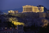 Parthenon Illuminated at Dusk