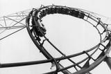Car Going Through Roller Coaster Loop Papier Photo