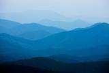 Blue Mountains, Blue Ridge Parkway, Virginia Papier Photo par Paul Souders