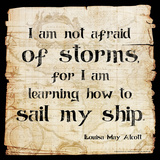 Not Afraid of Storms - Louisa May Alcott Classic Quote