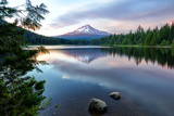 Summer Sunset at Trillium Lake  Oregon