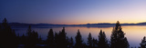 Lake at Sunset  Lake Tahoe  California  USA