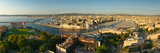 High Angle View of a City with Port  Marseille  Bouches-Du-Rhone  Provence-Alpes-Cote D'Azur