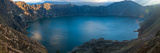 Lake Surrounded by Mountains  Quilotoa  Andes  Cotopaxi Province  Ecuador