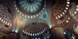 Interiors of a Mosque  Blue Mosque  Istanbul  Turkey