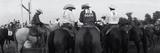 Cowboys on Horses at Rodeo  Wichita Falls  Texas  USA