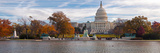 Fall View of Reflecting Pool and the Capitol Building  Washington Dc  USA