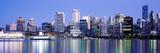Vancouver Skyline at Night  British Columbia  Canada 2013