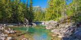 Mcdonald Creek Along Going-To-The-Sun Road at Us Glacier National Park  Montana  USA