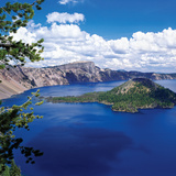 Crater Lake at Crater Lake National Park, Oregon, USA Papier Photo