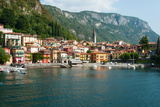 Buildings in a Town at the Waterfront  Varenna  Lake Como  Lombardy  Italy