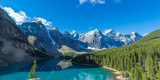 Moraine Lake at Banff National Park in the Canadian Rockies Near Lake Louise  Alberta  Canada