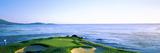 Sand Traps in a Golf Course  Pebble Beach Golf Course  Pebble Beach  Monterey County