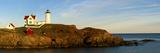 Lighthouse on the Coast  Cape Neddick Lighthouse  Cape Neddick  York  Maine  USA