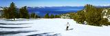 Tourist Skiing in a Ski Resort  Heavenly Mountain Resort  Lake Tahoe  California-Nevada Border  USA