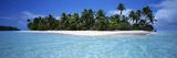 Tapuaetai Motu from the Lagoon, Aitutaki, Cook Islands Papier Photo