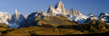 Mountains  Mt Fitzroy  Cerro Torre  Argentine Glaciers National Park  Patagonia  Argentina