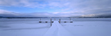 Snow Covered Pier  Mccall  Valley County  Idaho  USA