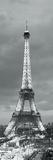 Eiffel Tower and Christmas Market at Dusk  Paris  Ile-De-France  France