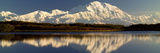 Reflection of Snow Covered Mountains on Water  Mt Mckinley  Denali National Park  Alaska  USA
