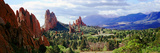 Rock Formations on a Landscape  Garden of the Gods  Colorado Springs  Colorado  USA