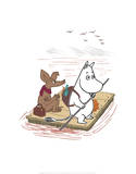 Moomintroll and Sniff on a Treasure Hunt