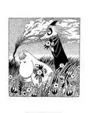 Vintage Moomin Illustration Reproduction d'art par Tove Jansson