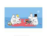 The Moomins Picnic Reproduction d'art par Tove Jansson