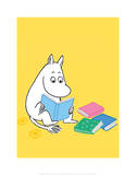 Moomintroll with his Head in a Book