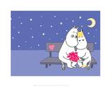 Moomintroll and Snorkmaiden Under the Stars