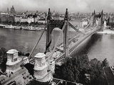 Bridge over Danube River of Budapest