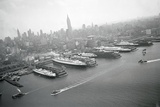 Ships Docking in New York Harbor