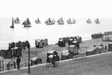 Beach Scene in Victorian England  Ca 1900
