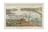 The Port of New York - Birds Eye View from the Battery  Looking South