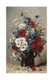 Still Life of Poppies  Daisies and Cornflowers
