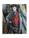 Le garçon au gilet rouge Giclée par Paul Cézanne