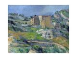 Houses in Provence: the Riaux Valley Near L'Estaque Giclée par Paul Cézanne