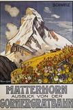 Matterhorn Travel Poster by Francois Gos Giclée par Francois Gos